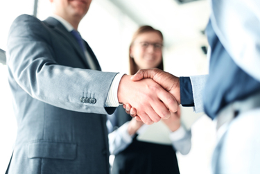 business handshake web