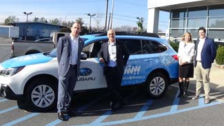 Subaru gift to Meals on wheels northampton
